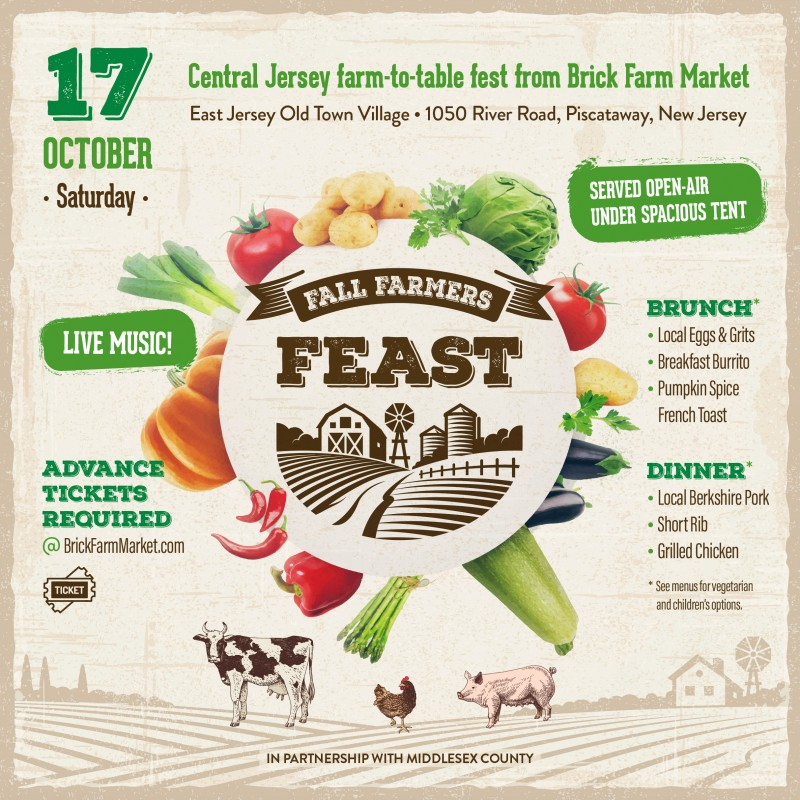 Fall Farmers Feast at East Jersey Old Town Village